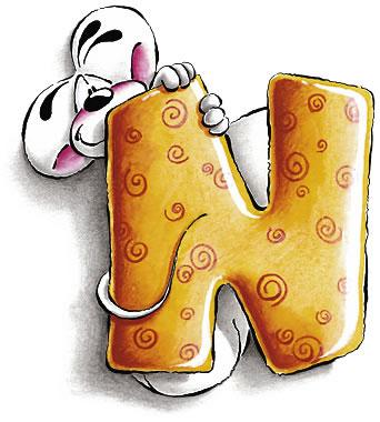 alfabeto diddl lettera : n