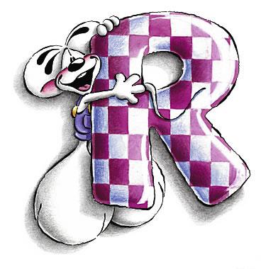 alfabeto diddl lettera : r