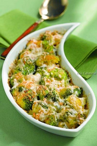 broccoli al forno con la provola