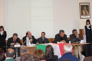 Da sin. Amato, Zuccalà, Marino, Aloi e Zavettieri