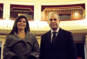 Serenella Fraschini e Armando Praticò