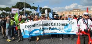 acqua pubblica manifestazione roma