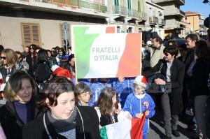 festeggiamenti unita  d italia a melito di porto salvo - sfilata delle scoraresche, banda e coro