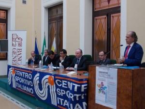Da sx Melidona, Gebbia, Cartella, Cicciù, Raffa, Pratico