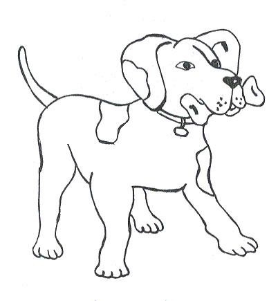 Disegni da colorare cane for Cane da colorare e stampare