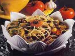 Spaghetti con peperoni