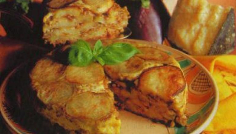 Torta di carne e melanzane