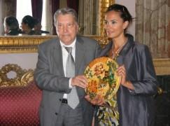 """""""The Opening"""", Cucinotta e Quinn accolti dal presidente Morabito"""