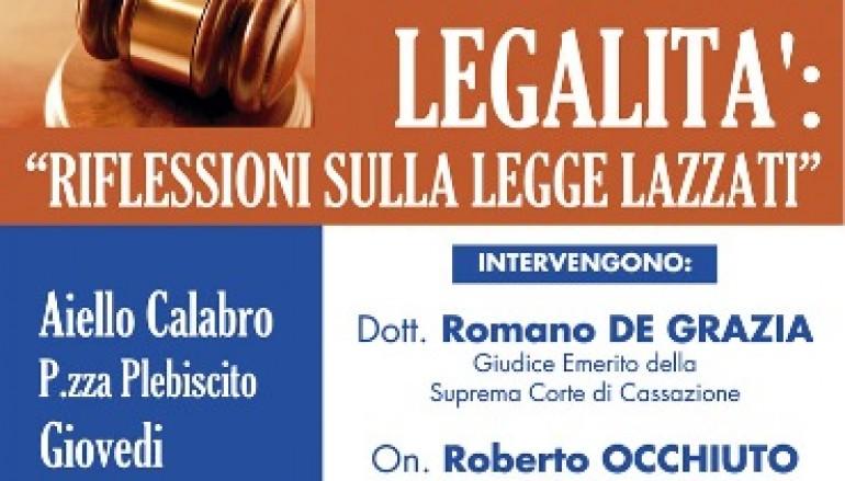 Aiello Calabro (CS), manifestazione e riflessioni sulla legge Lazzati