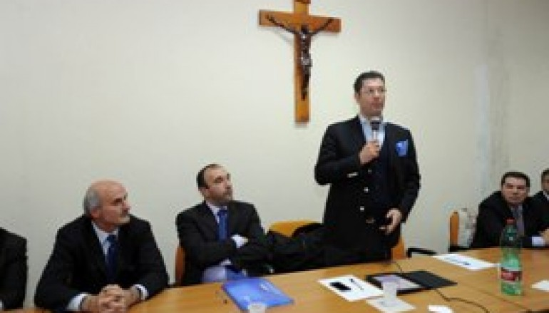 Diga dell'Esaro (CS), sopralluogo del Presidente Scopelliti e dell'Assessore ai Lavori Pubblici Gentile