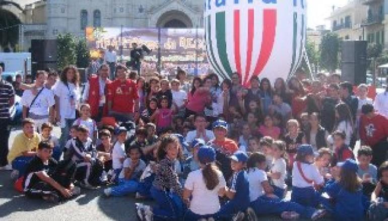 """Grande partecipazione alla manifestazione """"Stadium: lo sport incontra la piazza"""" del CSI"""