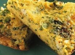 Frittata con broccoli di rape e salsiccia