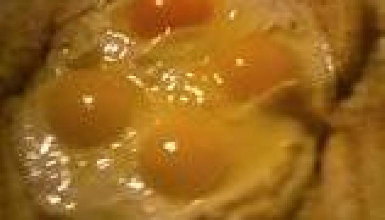 Uova fritte con caciocavallo
