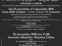 """Cosenza, incontro-dibattito e mostra fotografica su """"Aloysius Lilius"""""""