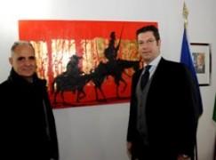 Calabria, Il Presidente della Regione Scopelliti ha ricevuto l'artista calabrese Natino Chirico