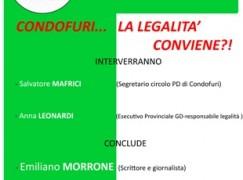 """Condofuri, Incontro """"La legalità conviene!!"""""""