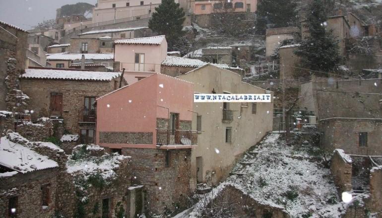 Neve sull'Area Grecanica. A Bova e Roccaforte del Greco -3°
