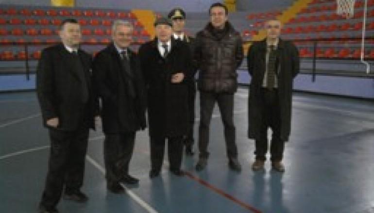 Palmi (RC), il Presidente Morabito all'inaugurazione del ristrutturato palazzetto dello Sport