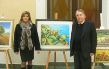 Reggio Calabria, Il Presidente Morabito incontra la pittrice Francesca Perina