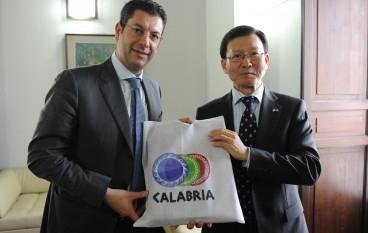 Regione, il Presidente Scopelliti ha incontrato l'Ambasciatore in Italia della Repubblica di Corea del Sud