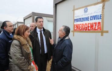Rosarno, allestito dalla Protezione Civile della Regione Calabria campo con moduli abitativi per immigrati