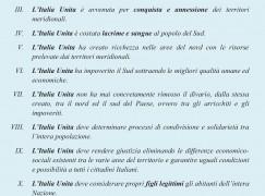 Cosenza, il Movimento per le Autonomie detta i Comandamenti dell'Italia Unita