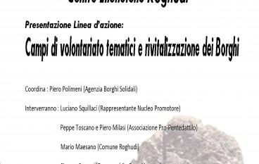 Melito Porto Salvo (RC), presentazione progetto campi di volontariato a Roghudi