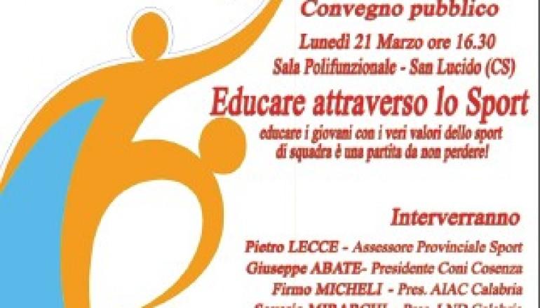 """San Lucido (CS), convegno """"Educare attraverso lo sport"""" promosso dall'ENDAS"""