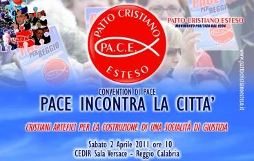 Reggio Calabria, PA.C.E. organizza convention per il 2 aprile