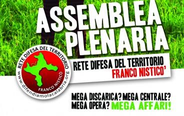 """Lamezia Terme (CZ), assemblea plenaria della Rete per la Difesa del Territorio """"Franco Nisticò"""""""