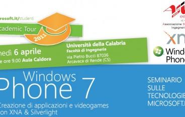 """Cosenza, all'Unical seminario su """"Windows Phone 7"""""""