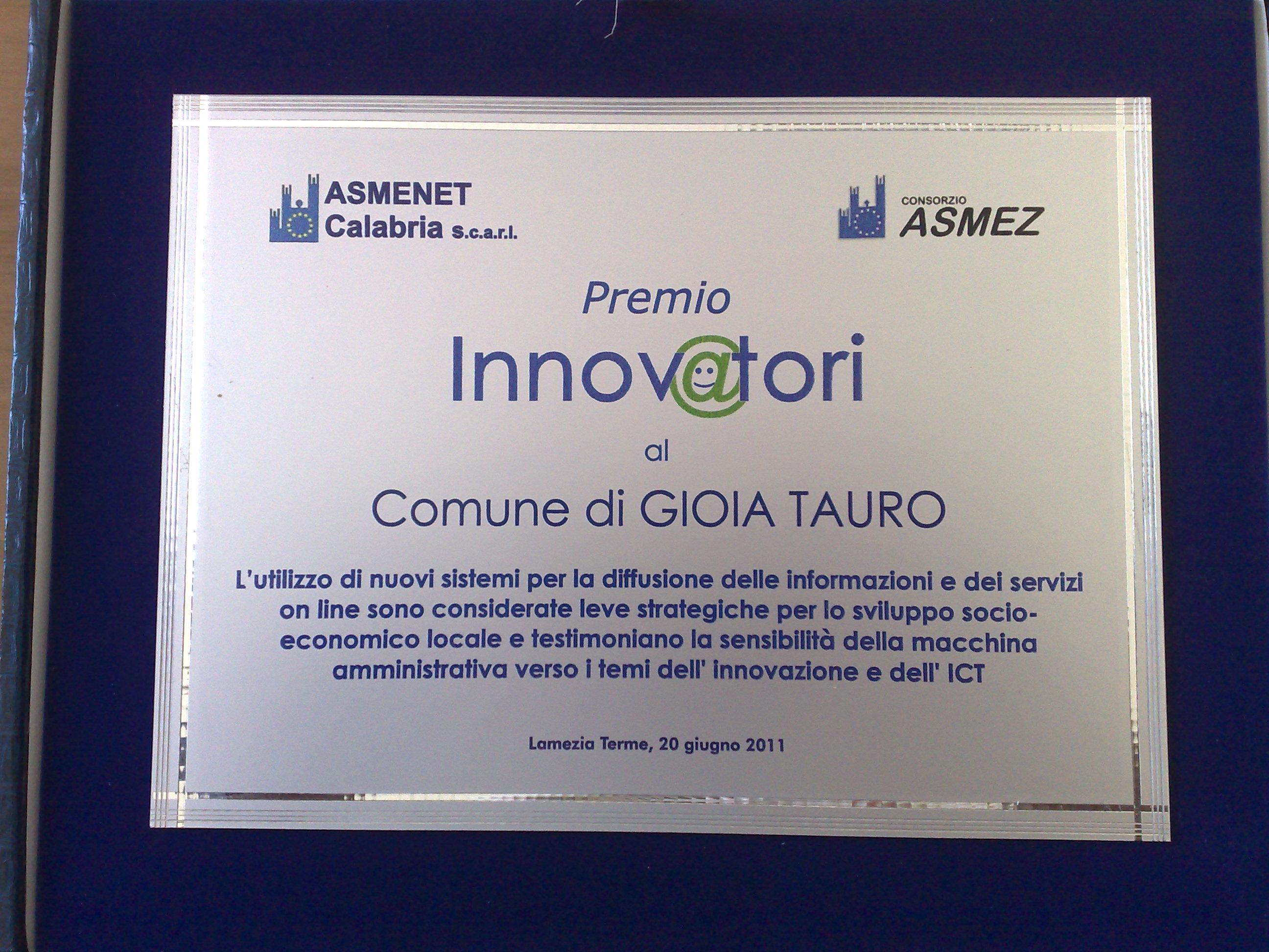 Doppio premio per il Comune di Gioia Tauro - Ntacalabria.it