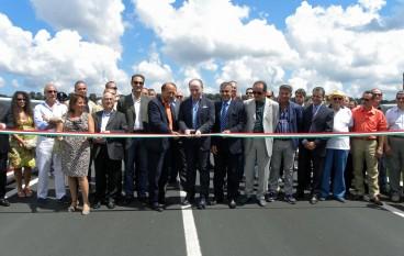 Provincia, Raffa inaugura il nuovo ponte sul fiume Marro