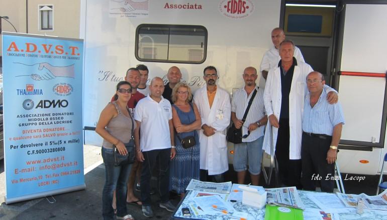 E' partito da Locri (RC) il tour Advst per le donazioni di sangue