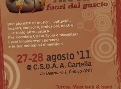 Gallico (RC), al Csoa Cartella due giorni di musica per ricordare Ciccio Svelo