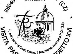 Annullo postale celebrativo a Lamezia Terme per la visita del Papa