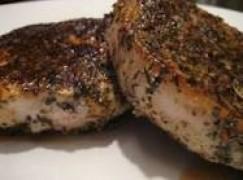 Bistecche di maiale al pepe e finocchio