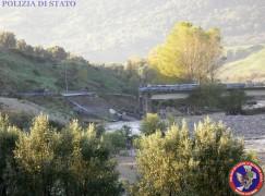 Crolla ponte a Natile Vecchio di Careri (RC), donna in dialisi trasportata in Ospedale da elicottero Polizia