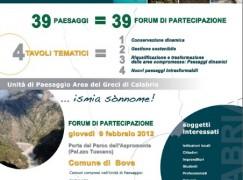 """A Bova il """"Forum del Paesaggio"""""""