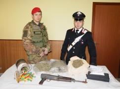 Sant'Eufemia d'Aspromonte (RC), rinvenuti kalashnikov, munizioni e droga