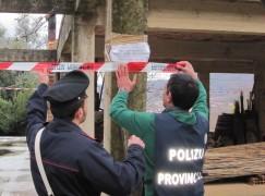 Sant'Eufemia (RC), sequestrati 2 manufatti abusivi e denunciate 4 persone