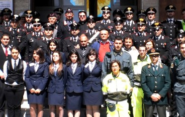 Bova Marina (RC), i militari dell'Arma dei Carabinieri celebrano precetto pasquale
