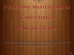 Reggio Calabria, 1^ Edizione Masterclass di Canto Lirico Francesco Cilea