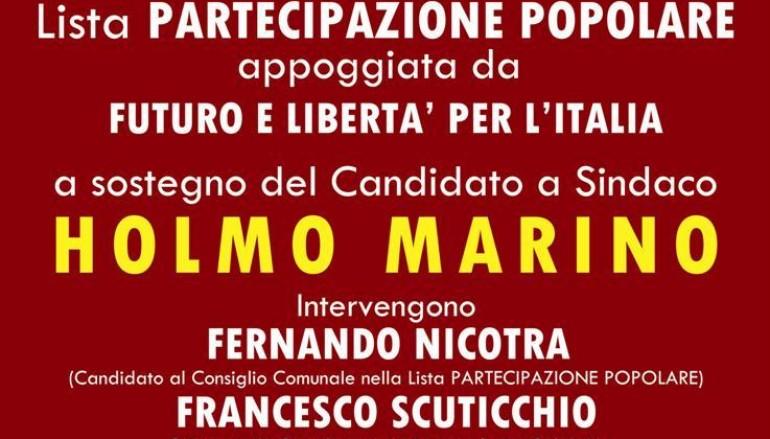 Pizzo (VV), il 29 aprile comizio Lista Partecipazione Popolare