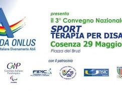 """Cosenza, 3° Convegno Nazionale Aida """"Sport, Terapia per disabili"""""""