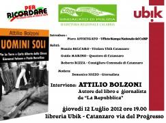 """Il COISP promuove a Catanzaro la presentazione del libro """"Uomini Soli"""" di Attilio Bolzoni"""