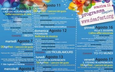 DEAFest 2012, al via il Festival della natura, della cultura e delle tradizioni nella Vallata del Gallico