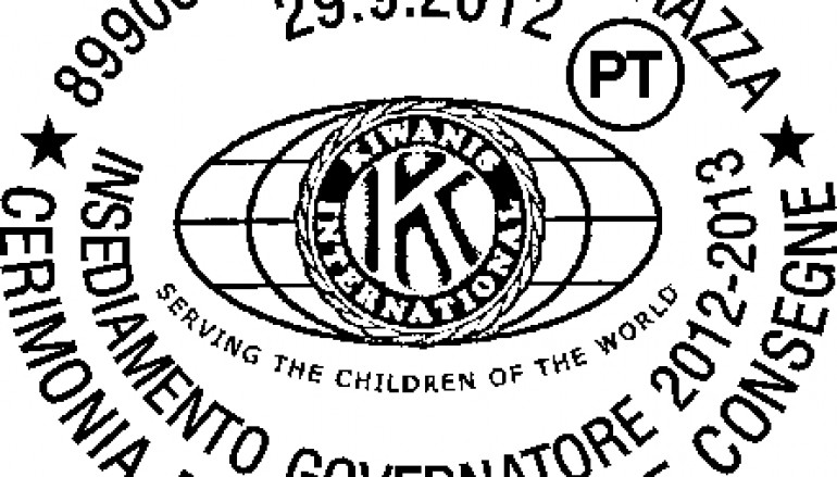 Kiwanis, l'insediamento del nuovo Governatore in un annullo filatelico