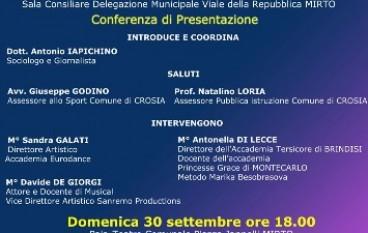 """presentazione dell'affiliazione dell'Eurodance di Mirto Crosia all'Accademia """"Princesse Grace"""" di Montecarlo"""