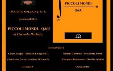 """Bagnara (RC), stasera presentazione del libro """"Piccoli mondi- Q&U"""" di Carmelo Barbaro"""